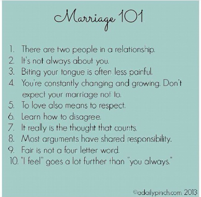 Marriage 101