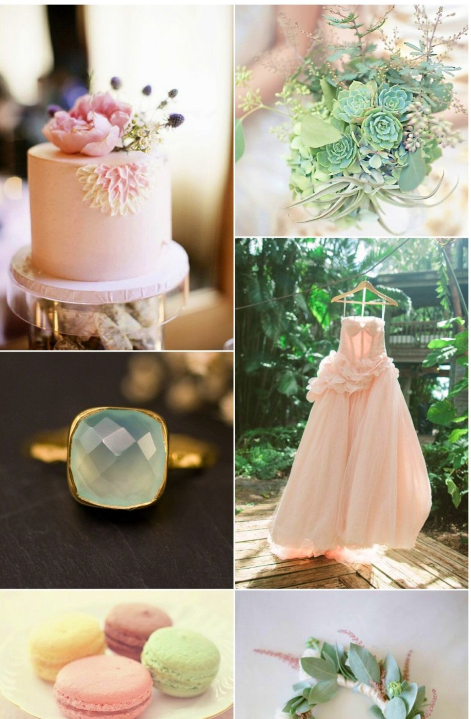 Mint with Peachy Pink